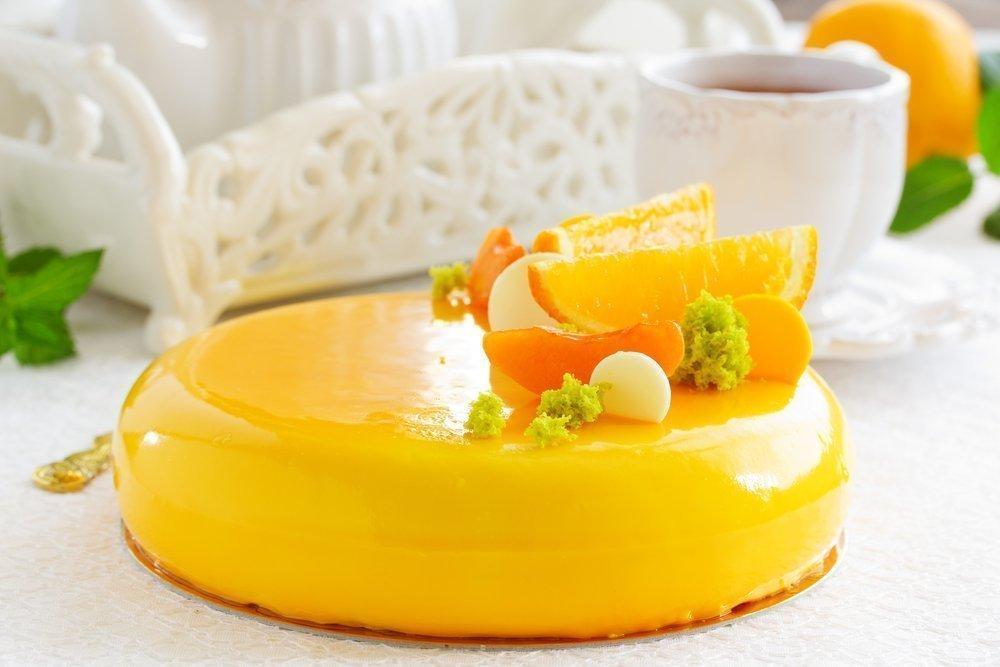 Фруктово - желейный торт