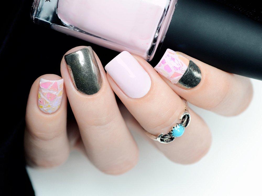 Нейл-арт на ногтях без фольги