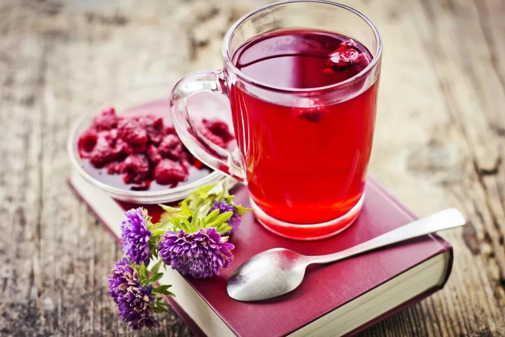 Чай малина цветки