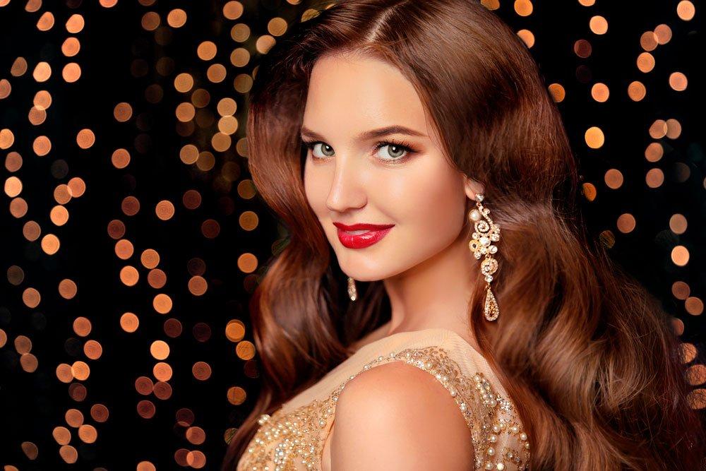 Выбор праздничного макияжа глаз по цвету волос