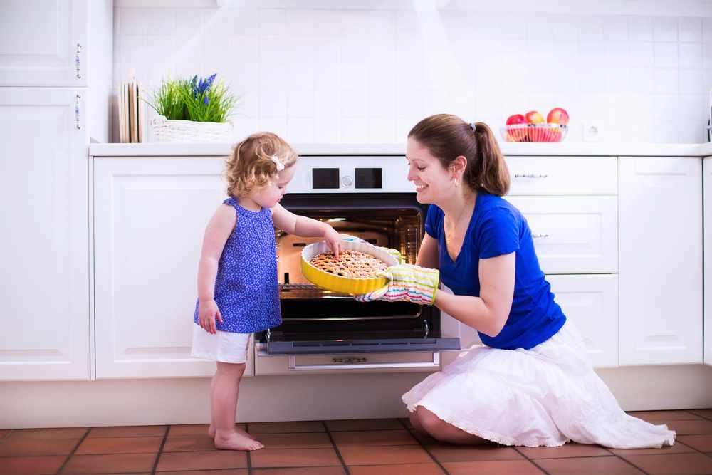 Кухонная плита — источник опасности для детей!
