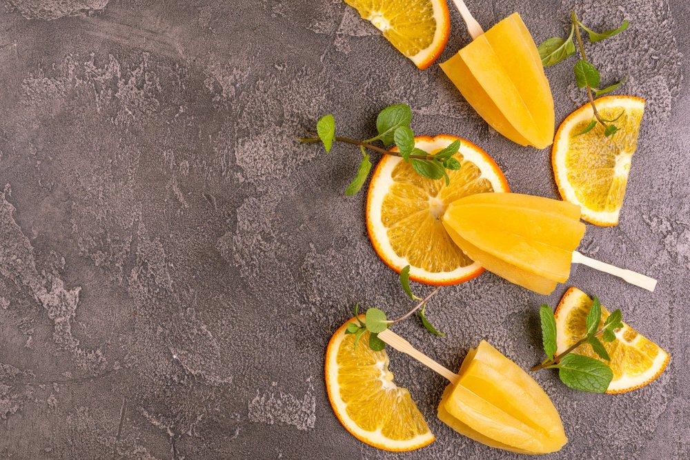 Цитрусовые фрукты + мята