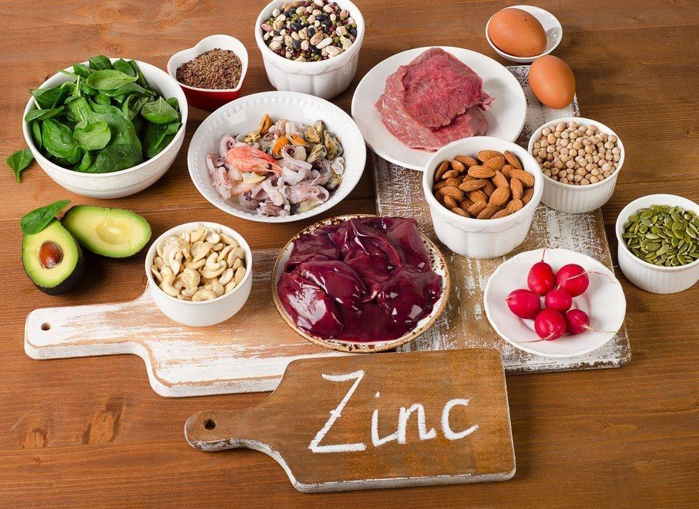 Продукты питания, содержащие цинк