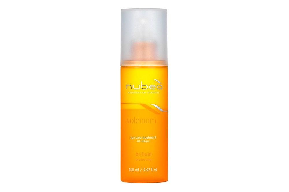 Двухфазный солнцезащитный лосьон-флюид для волос «Солениум»/Solenium от Nubea