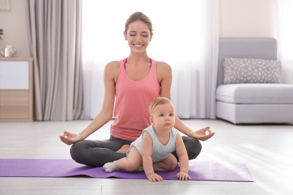 Упражнения для молодых мам и их детей на DVD