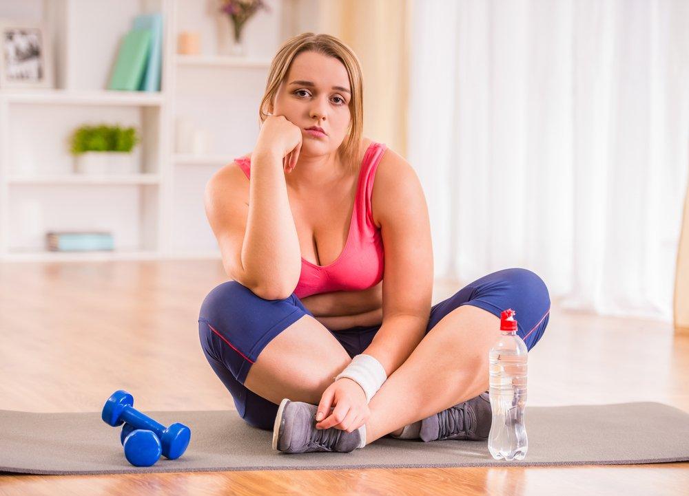 Фитнес против ожирения тела