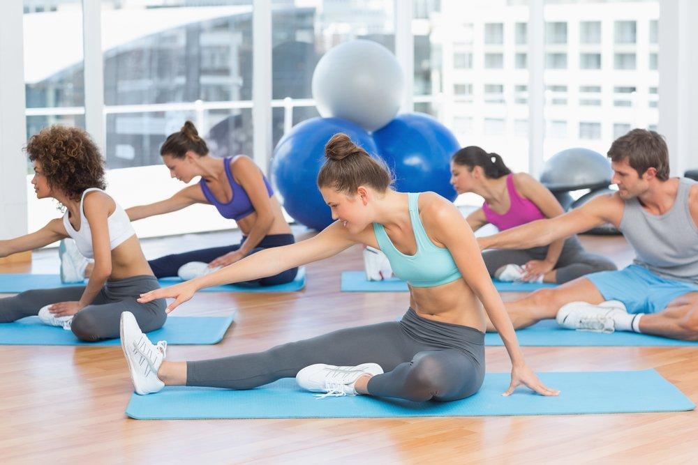Упражнения из положения сидя и лежа