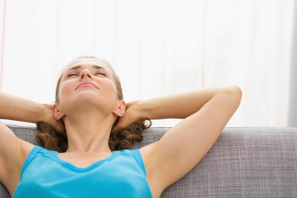 Расслабьте мышцы во время отдыха