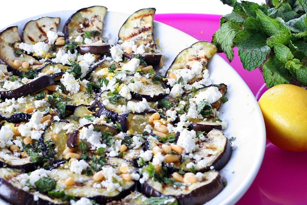Салат с баклажаном с