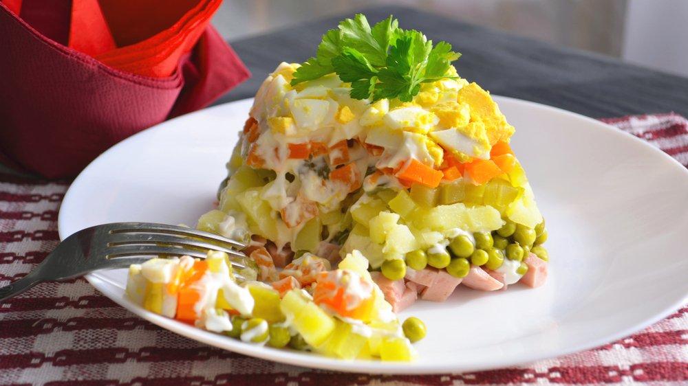 Рецепт приготовления классического салата «Оливье»