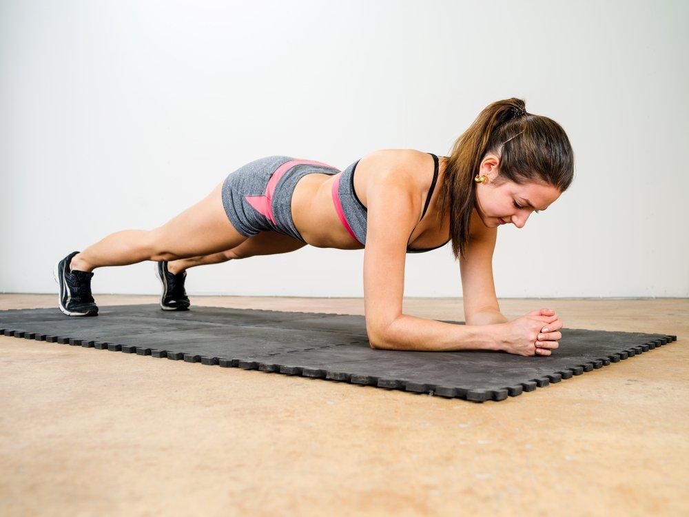 Изометрическая фитнес-тренировка для основных мышечных групп