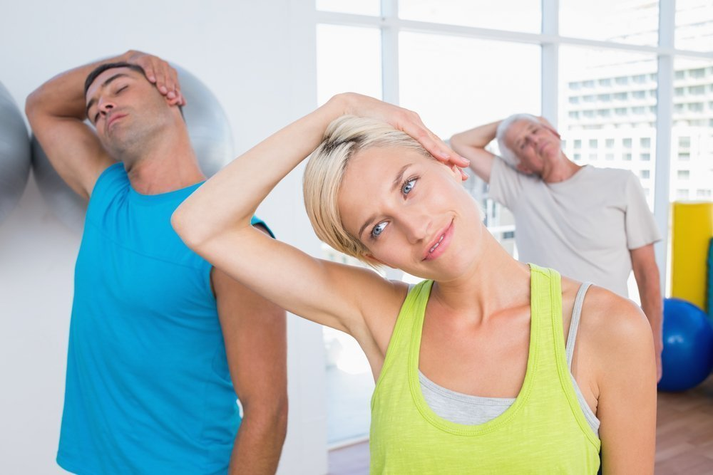 Фитнес-упражнения для разогрева шейных мускулов