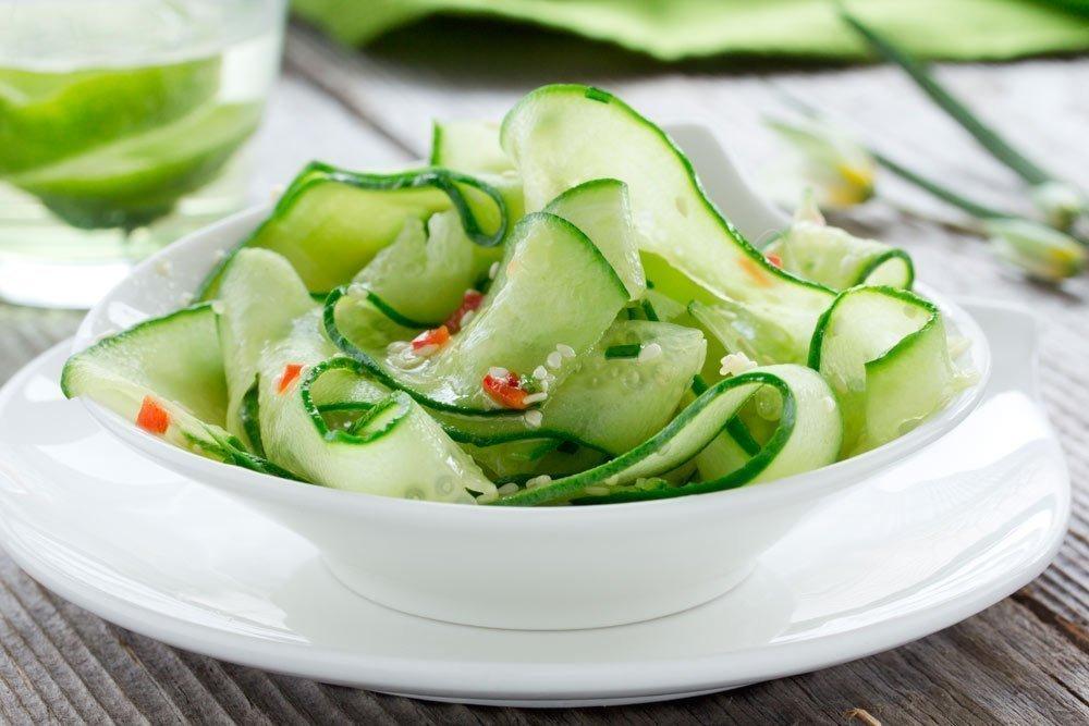 Рецепт салата из огурца с кунжутом