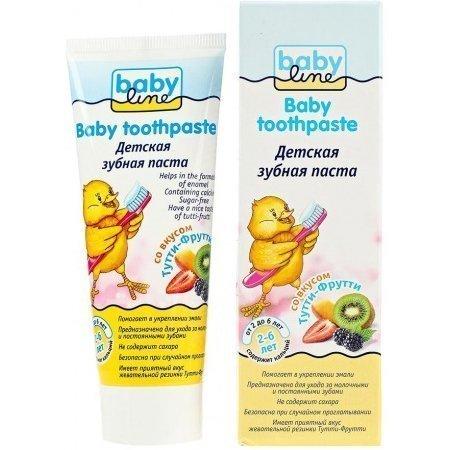 Babyline Детская зубная паста со вкусом Тутти-Фрутти