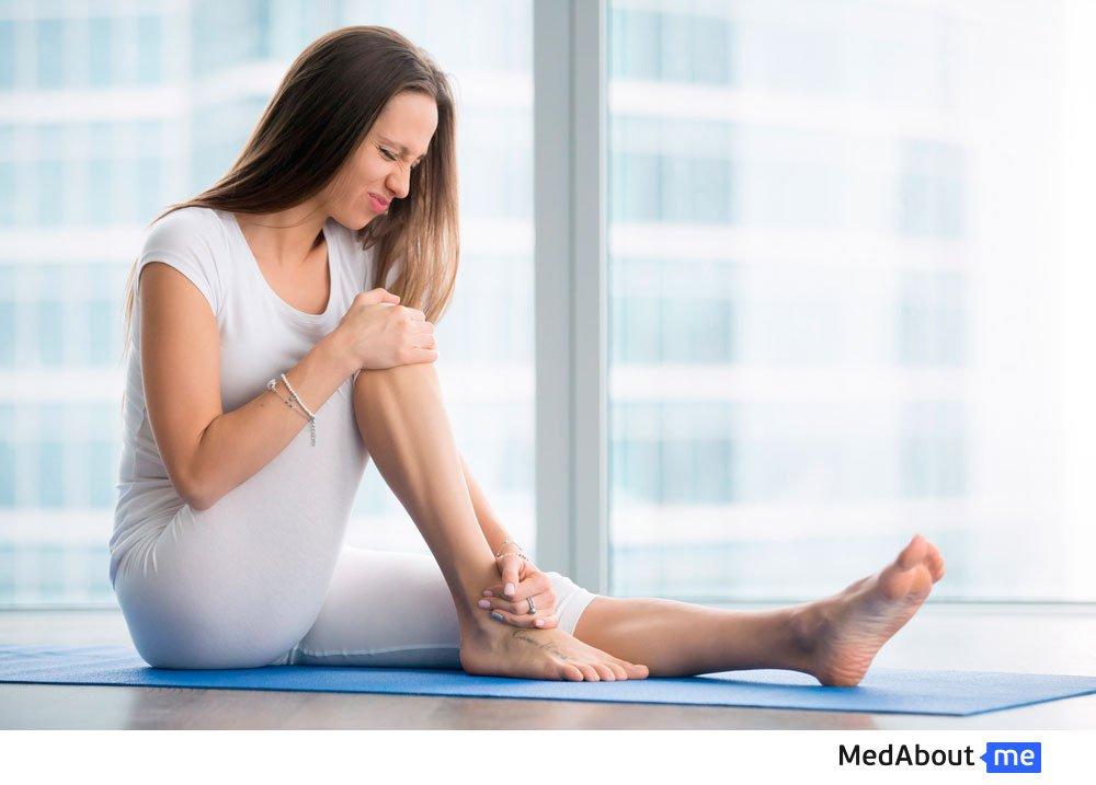 Симптомы: язвы на ногах