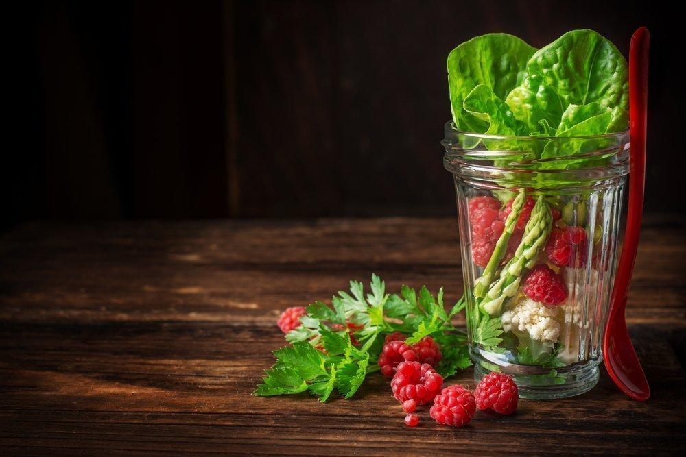Вегетарианская диета и Mason Jar салаты