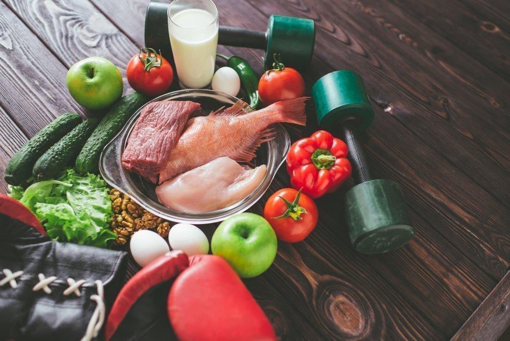 Рацион питания при занятиях фитнесом для увеличения мышечной массы