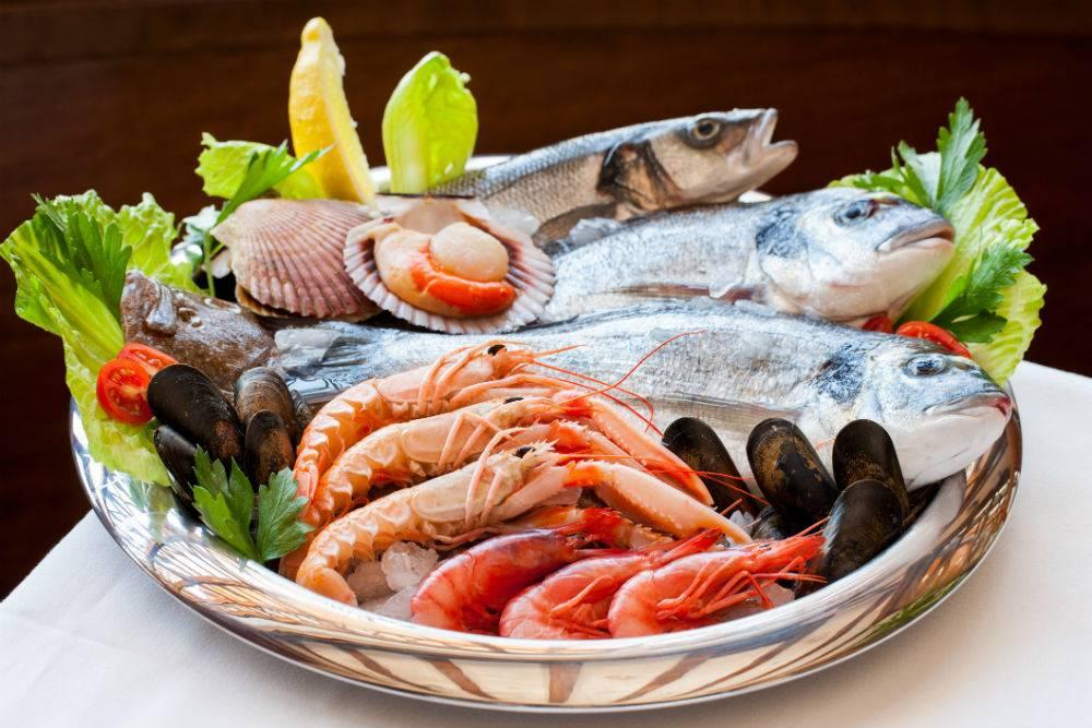 Свежие морепродукты