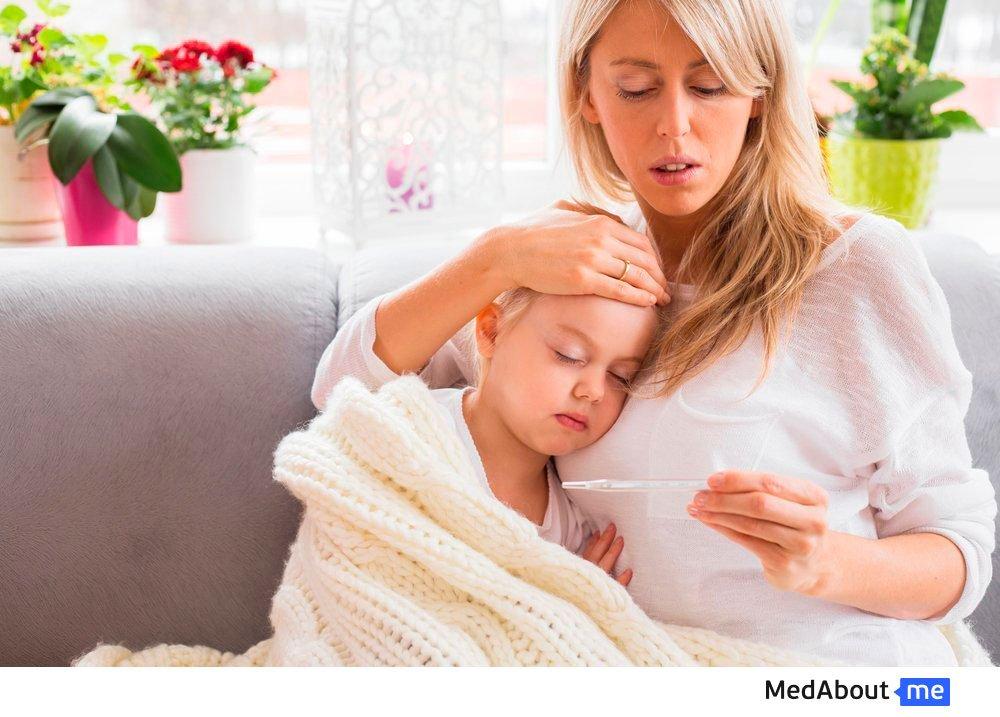 Реакция на прививку против паротита, кори и краснухи