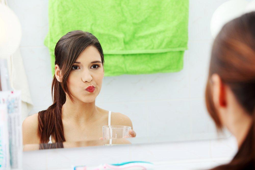 Полоскание рта перекисью водорода