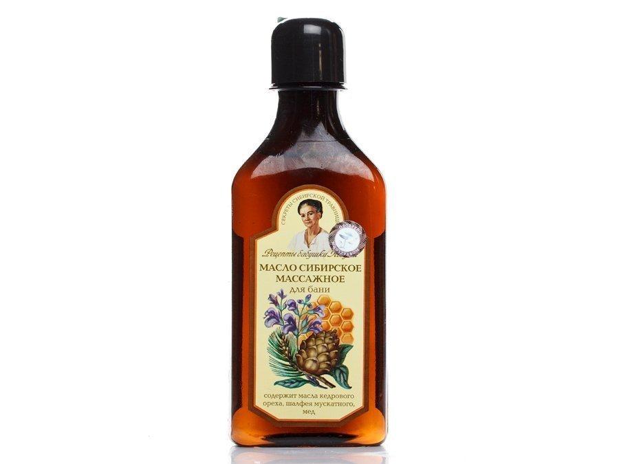 Массажное масло «Сибирское» Рецепты бабушки Агафьи, 250 мл Источник: leboutique.com