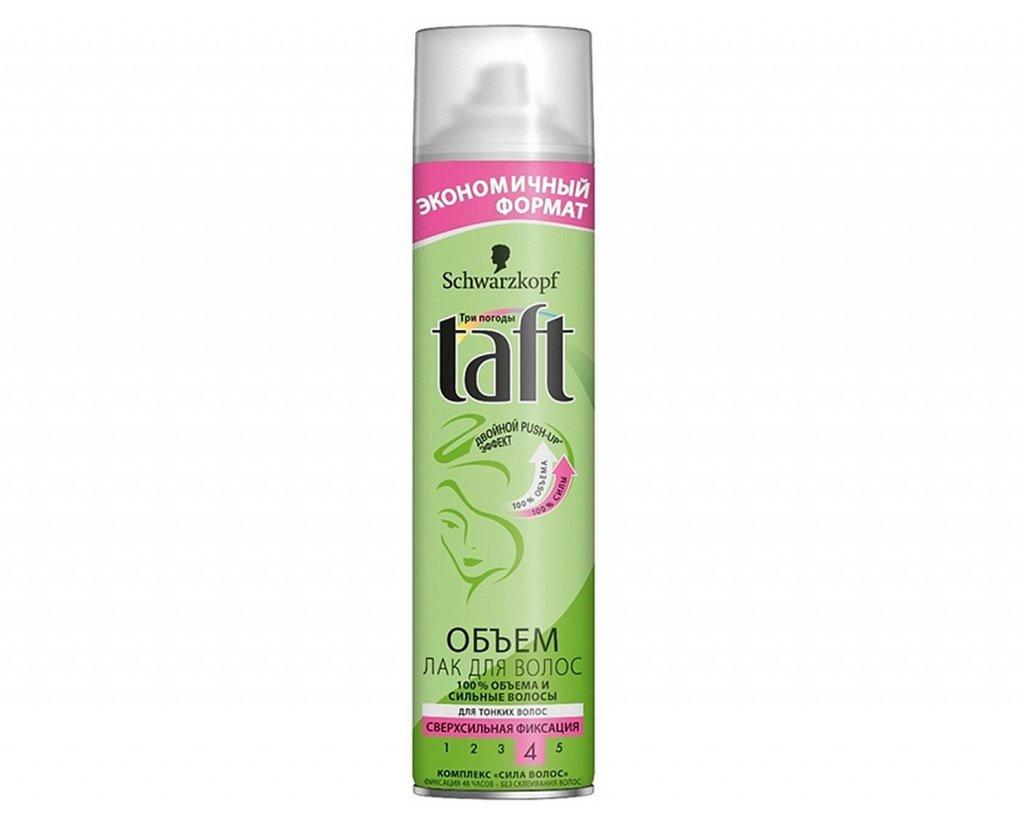 Лак для волос Taft «Объем» для тонких волос сверхсильной фиксации, 350 мл Источник: wildberries.ru