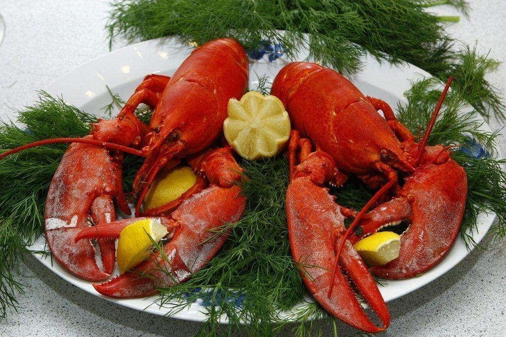 Омары и другие морепродукты как источники питания, содержащие селен