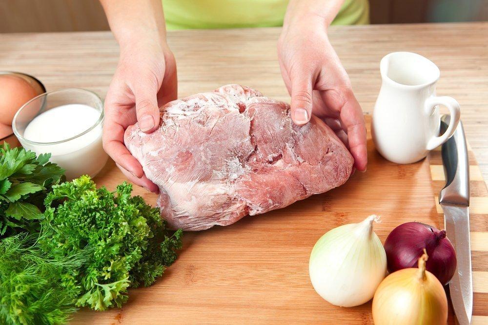 Ранее размороженное мясо