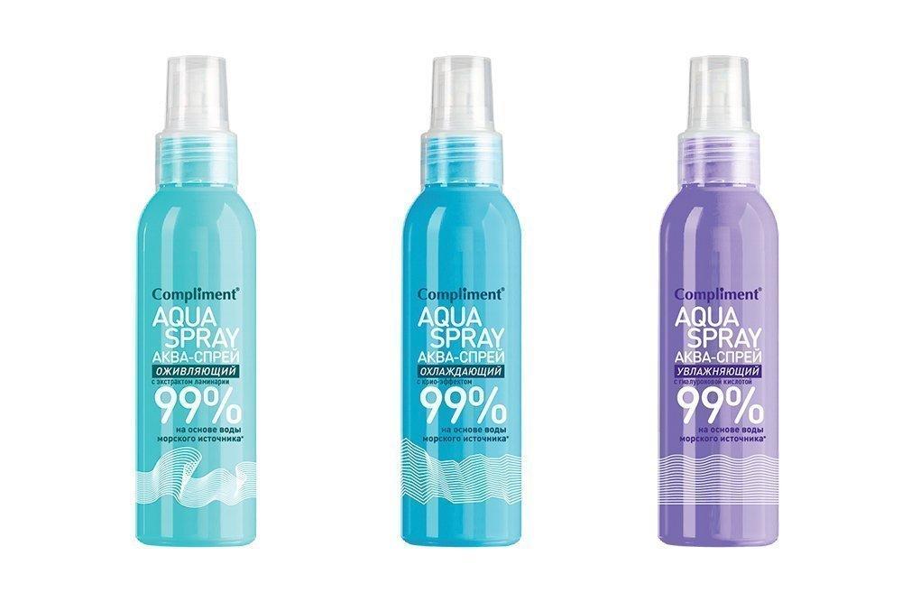Спреи для лица и тела Aqua Spray, Compliment