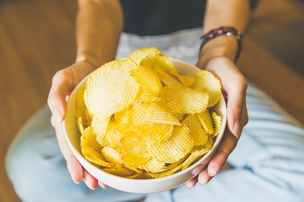 Вафли, чипсы, попкорн