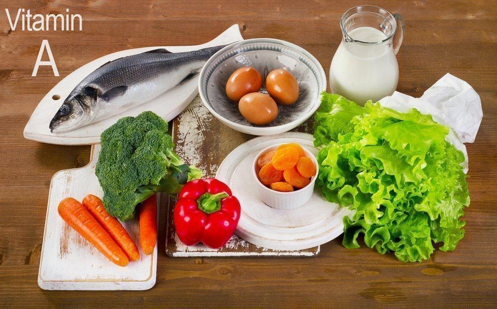 В каких продуктах питания встречается витамин А?