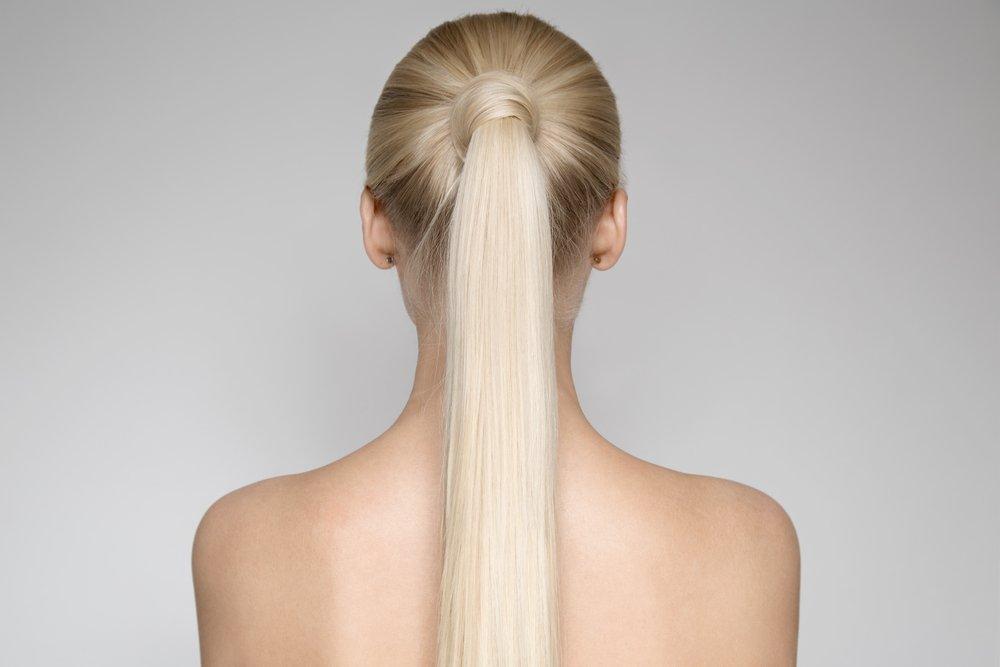 Укладка волос в пышный хвост