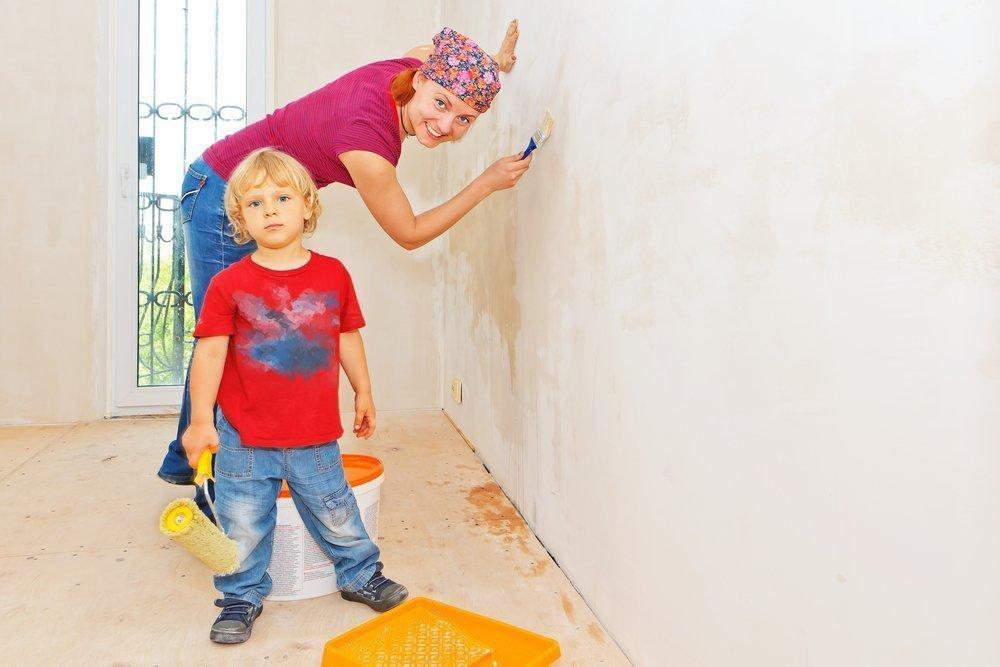 Как быть, если планируется ремонт в квартире с детьми?