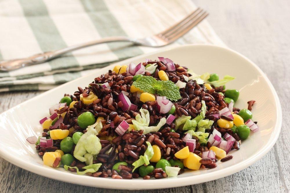 Дикий рис с овощами для майской диеты