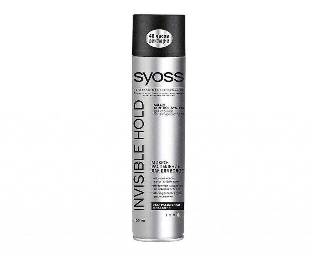 Лак для волос Syoss InvisibleHold Микро-распыление «Ультрасильная фиксация», 400 мл Источник: wbstatic.net