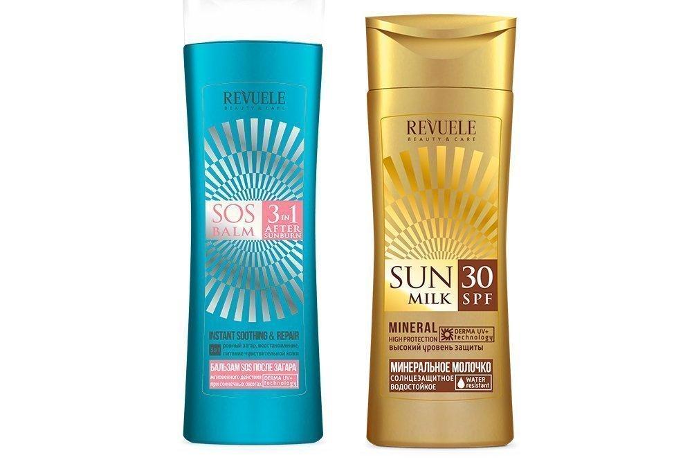 Revuele Минеральное молочко солнцезащитное SPF 30, Revuele Бальзам SOS после загара