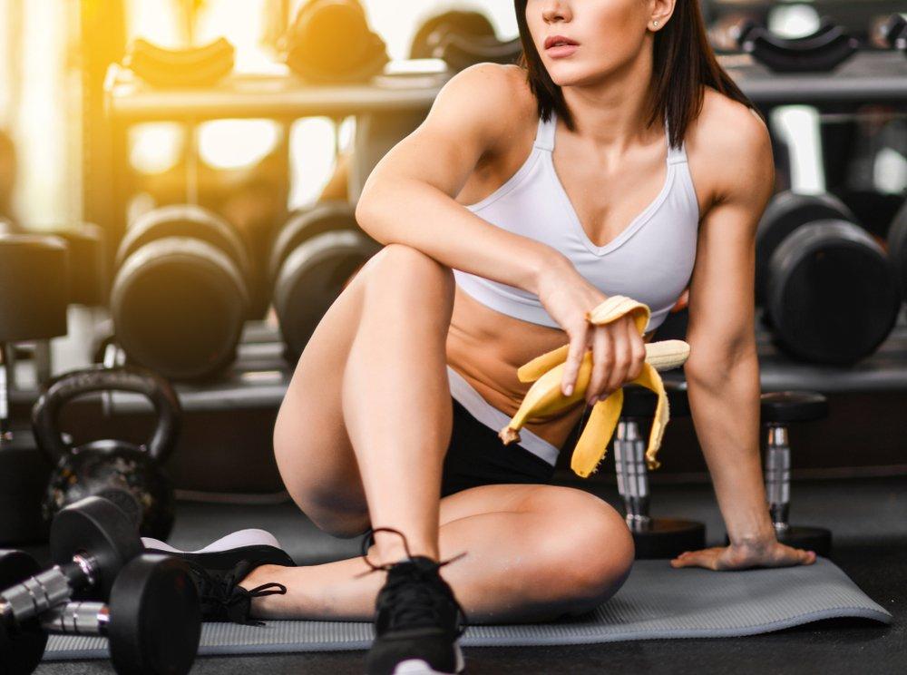 Банан после физической нагрузки