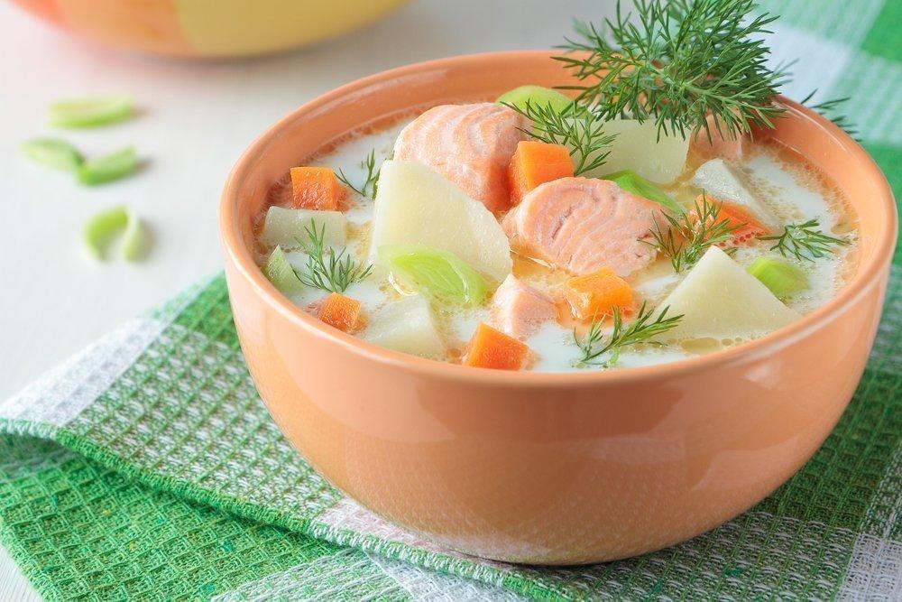 Вкусные рецепты: финский сливочный суп с лососем и плавленым сыром