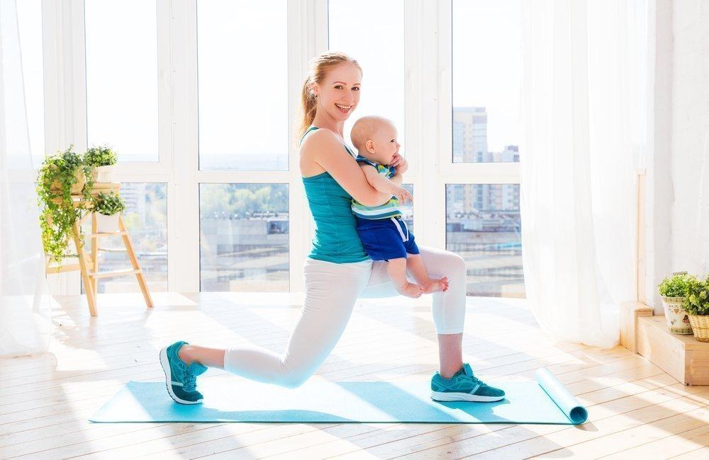 Фитнес-зарядка для молодых мам после родов