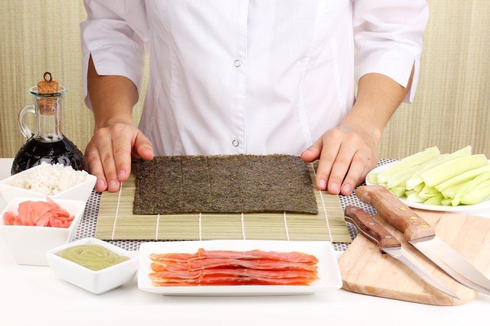 Вкусные рецепты: суши-торт