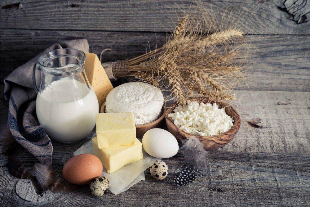 Продукты питания белого цвета