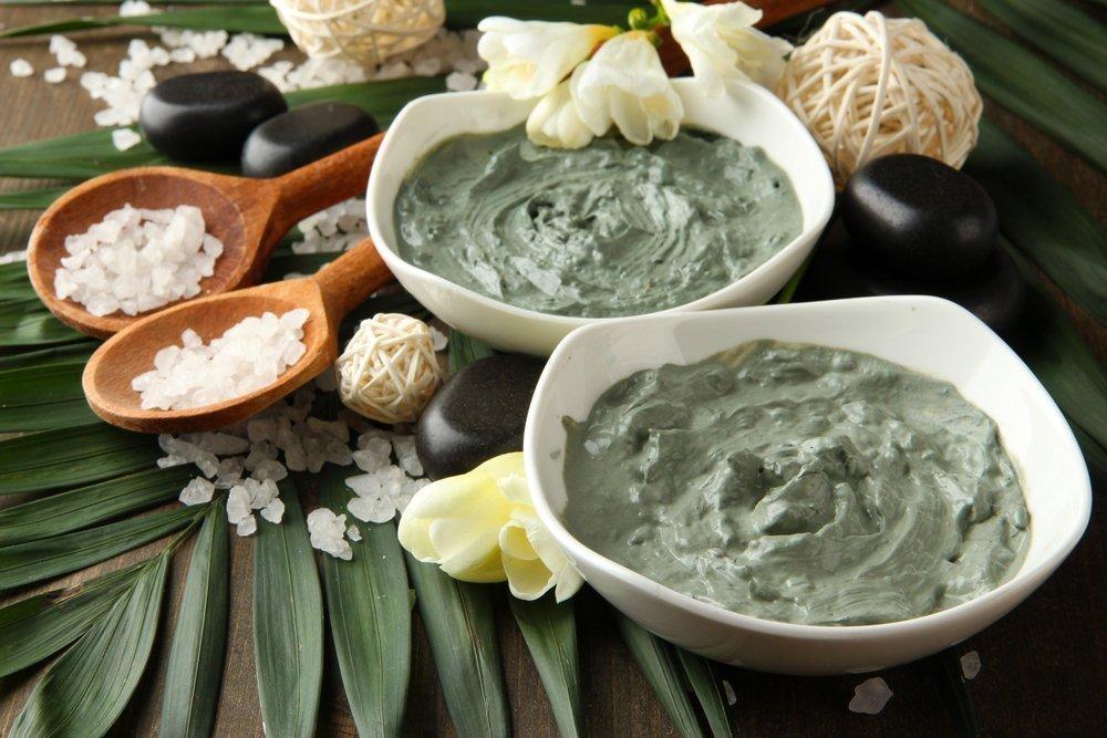 Уход за кожей с зеленой глиной