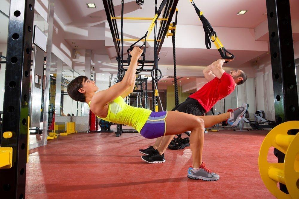 Фитнес с петлями TRX