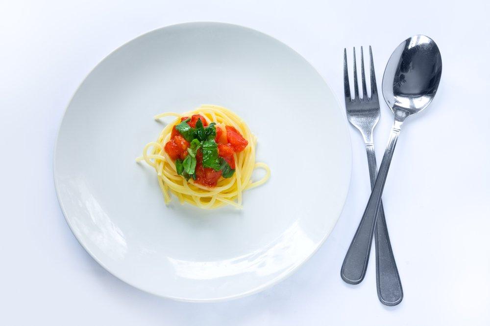 1. Вы оцениваете количество пищи по объему порции