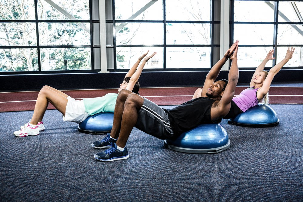 Плюсы занятий фитнесом с BOSU