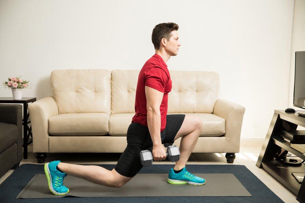 Комплекс домашних силовых упражнений с грузом
