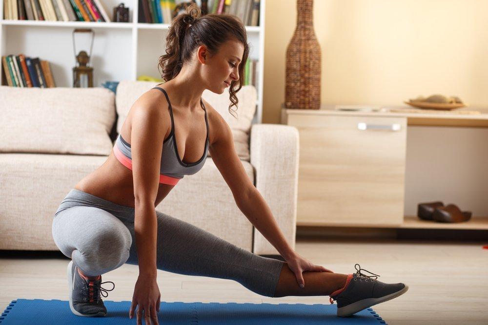 Фитнес дома для мышц бедра
