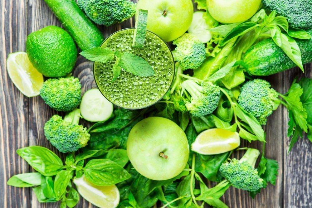 Зеленые овощи