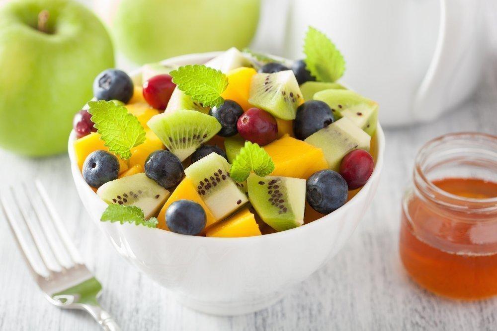 рецепты фруктовых салатов с манго