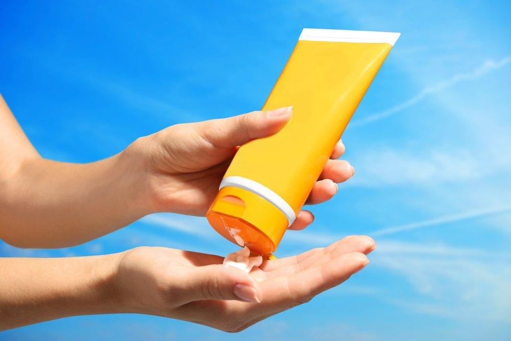 Возьмите уходовые средства для кожи с SPF
